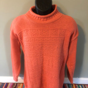 80s Dragon Run Mock Turtle Neck Sweater Thick Warm